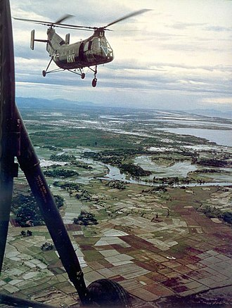 Operation Chopper (Vietnam) - an H-21 over South Vietnam