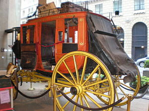 Wells Fargo History Museum - Concord Stagecoach in Wells Fargo History Museum, San Francisco, CA