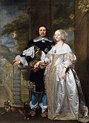 Coques (attributed) - Portrait of a Married Couple in the Park - Google Art Project.jpg
