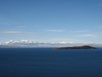Cordillera Real (Bolivia) - Cordillera Real as seen from Lake Titicaca
