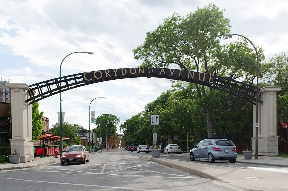 Corydon Avenue arch in Winnipeg, Manitoba