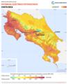 Costa-Rica PVOUT Photovoltaic-power-potential-map lang-ES GlobalSolarAtlas World-Bank-Esmap-Solargis.png