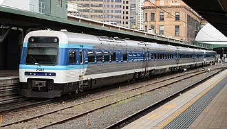 New South Wales Xplorer - Xplorer at Sydney Central in original CountryLink livery in October 2006.