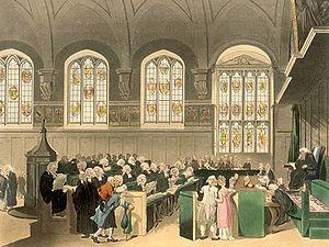 Equity (law) - The Court of Chancery, London, in the early 19th century