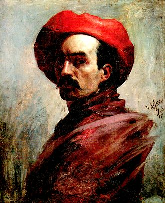 Cristóbal Rojas (artist) - Self portrait by Rojas, (1887).
