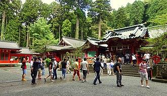 Hakone Shrine - Image: Crowd Hakone jinja Hakone, Japan DSC05780