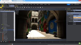 Clara.io - V-Ray rendering of the standard  Sponza Atrium model.