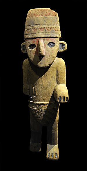 The Broken Ear - The Chimú statuette from the Cinquantenaire Museum which was copied into the adventure by Hergé.