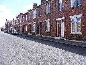 Tyneside flat - Tyneside flats in Wallsend. Note the pairs of doors