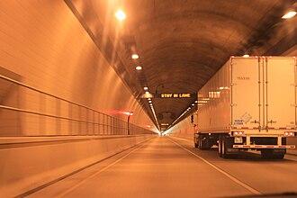 Cumberland Gap Tunnel - Tunnel interior
