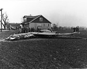 Curtiss XP-55 following crash