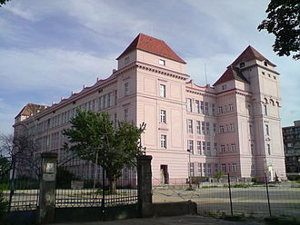 "Textile industry - An old textile factory (""Cvernovka"") in Bratislava, Slovakia (1901-2004)."