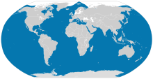 A world map shows killer whales are found throughout every ocean, except parts of the Arctic. They are also absent from the Black and Baltic Seas.
