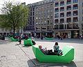Düsseldorf, Schadowplatz, Enzi-Bänke, 1. April 2014 (3).jpg
