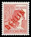 DBPB 1949 28 Freimarke Rotaufdruck.jpg