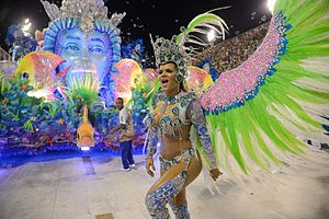 Brazilian Carnival - Samba (Brazilian dance) at Rio Carnaval in 2017