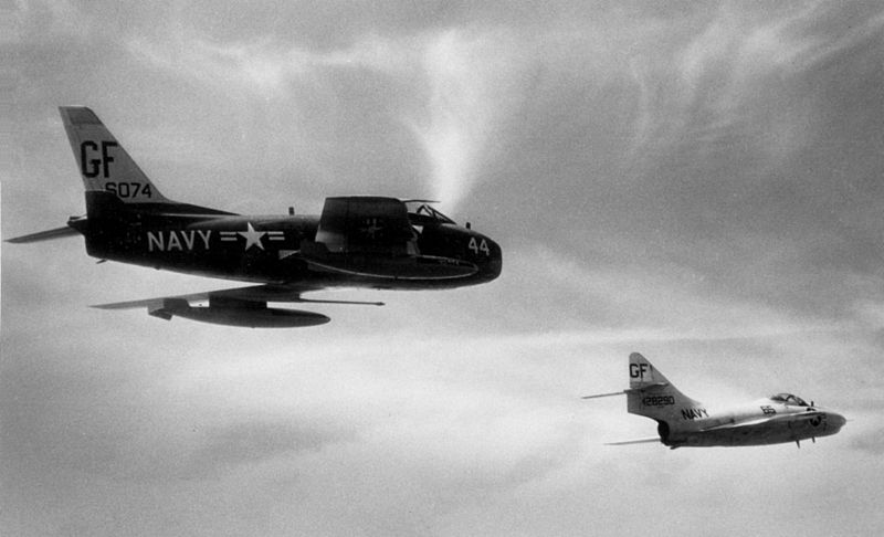 File:DF-1C with QF-9G drone off NS Roosevelt Roads 1963.jpeg