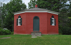 Tompkins County, New York - The eight-square schoolhouse or Dryden District School No. 5 is a one room schoolhouse just south of New York Route 13 in Dryden Township.