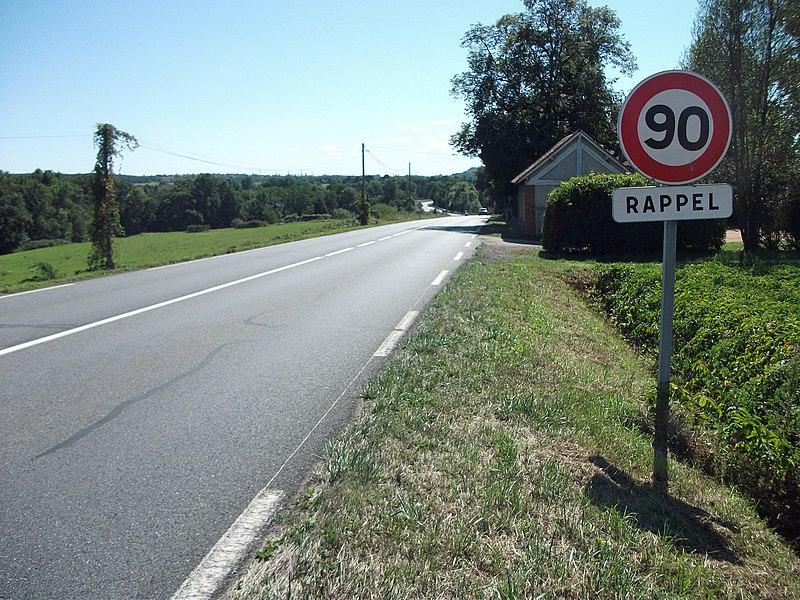 Rappel maxspeed 90 kph [8883]