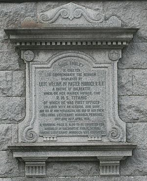 William McMaster Murdoch - The memorial to William Murdoch in Dalbeattie.