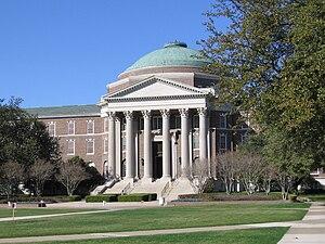 Education in Dallas - Dallas Hall at Dedman College at Southern Methodist University