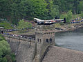 Dambuster Lancaster Soars Again Over the Derwent Valley Dam MOD 45147543.jpg