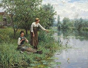 Daniel Ridgway Knight - Image: Daniel Ridgway Knight Two Women Fishing