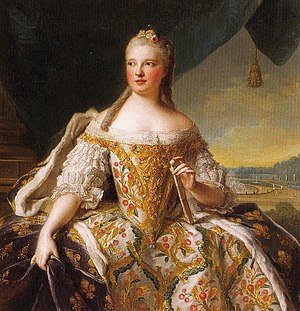 Maria Josepha of Saxony, Dauphine of France - Portrait by Jean Marc Nattier, 1751