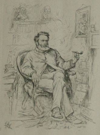 David Masson - David Masson - portrait by William Hole