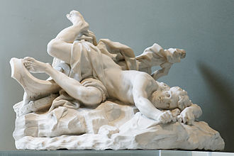 Hippolytus (son of Theseus) - The Death of Hippolytus, by Jean-Baptiste Lemoyne (1679–1731), Louvre.