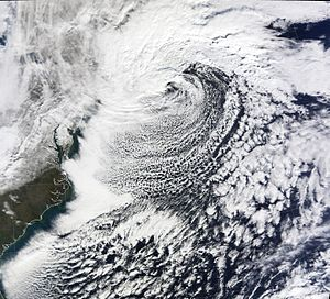 2009–10 North American winter - A strong blizzard impacts the Northeast on December 19–20.