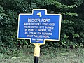 Decker Fort historic marker on Neversink Drive re 1779 attack.jpg