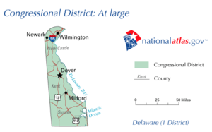 United States House of Representatives election in Delaware, 2008 - Map of Delaware's at-large congressional district