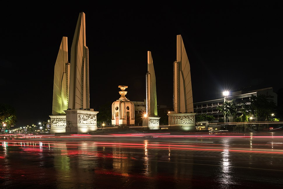 Democracy Monument at night, BKK