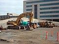 Demolition equipment at the former Belconnen Interchange.jpg