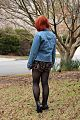 Denim Jacket and Black Floral Romper From the Back (17151965225).jpg