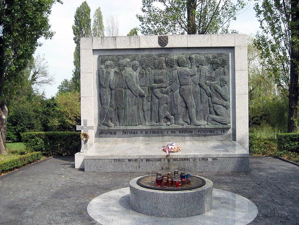 Denkmal für kommunistische Nachkriegsverbrechen, Mirogoj, Zagreb