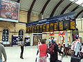 Departure boards, York railway station concourse - DSC07749.JPG