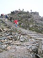 Descending the steps from the summit to Hafod Eryri - geograph.org.uk - 1500621.jpg