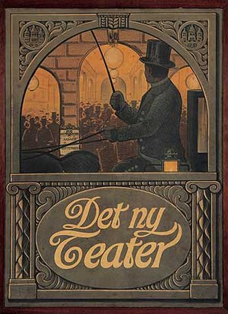 1908 in Denmark - Poster from the opening of Det Ny Teater
