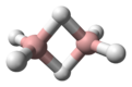 Ball and stick model of diborane
