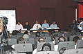 Digambar Kamat addressing at the 'IFFI-2009 Curtain Raiser Press Conference' alongwith the Director, Directorate of Film Festivals, Shri S.M. Khan and other officials, in Panaji, Goa on November 21, 2009.jpg