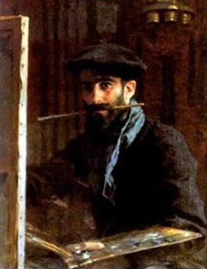 Nasreddine Dinet - Self Portrait (1891), today in the collection of the Musée Nasreddine Dinet à Bou-Sâada