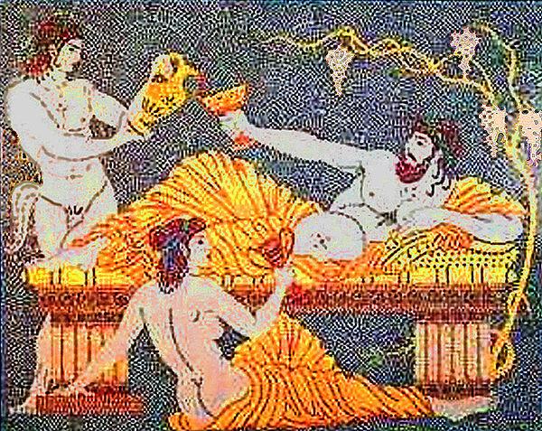 Dionysos. mosaik