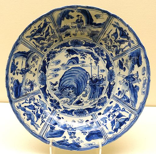 Dish, China, transitional period, mid 17th century AD, blue and white porcelain - Ethnological Museum, Berlin - DSC02015