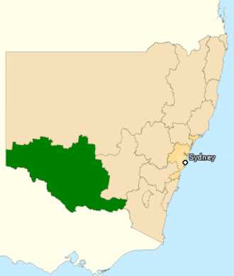 Division of Farrer - Division of Farrer in New South Wales, as of the 2016 federal election.