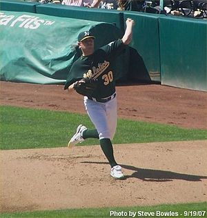 Dan Meyer (pitcher) - Meyer with the A's in 2007