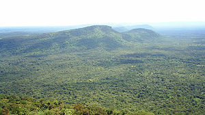Sisaket Province - View of the Dongrek Mountains, Phra Viharn National Park.