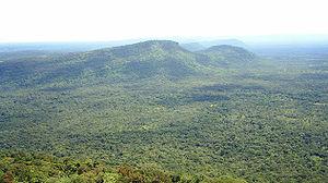 Dângrêk Mountains - The Dângrêk Mountains, looking east from Maw I-daeng, Thailand