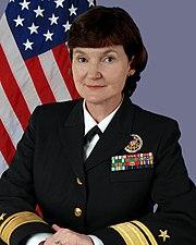 Navy staff photo of Admiral Donna Crisp